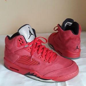 Nike Air Jordan 5 Retro Red Suede Size 11 MEN